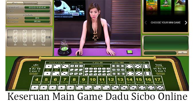 keseruan main game dadu sicbo online